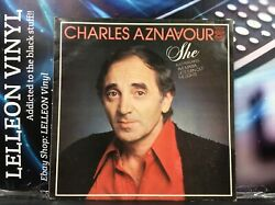 Charles Aznavour She LP Album Vinyl Record MFP50398 A1B1 Pop Easy 70's