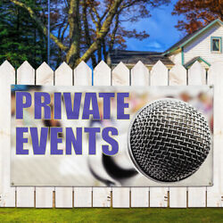 Vinyl Banner Sign Private Events Lifestyle Outdoor Marketing Advertising White