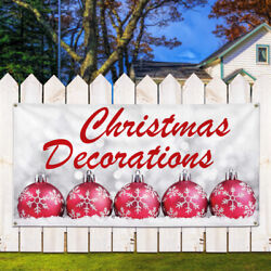 Vinyl Banner Sign Christmas Decorations Business Style S Marketing Advertising
