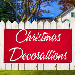 Vinyl Banner Sign Christmas Decorations #1  Style A Marketing Advertising Red