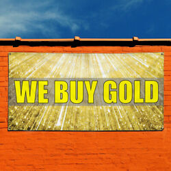 Vinyl Banner Sign We Buy Gold #1  Style C Business Marketing Advertising Yellow