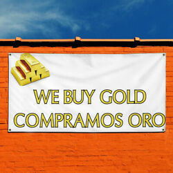 Vinyl Banner Sign We Buy Gold Compramos Oro #1 Style A Marketing Advertising
