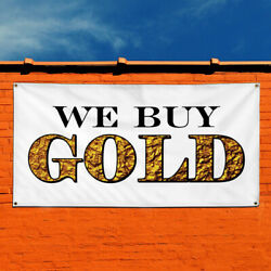 Vinyl Banner Sign We Buy Gold Business Business Marketing Advertising Yellow