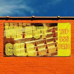 Vinyl Banner Sign W Buy Gold Business buy and sell Marketing Advertising Yellow