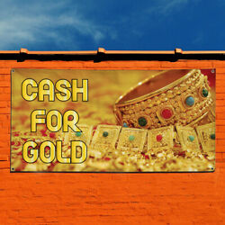 Vinyl Banner Sign Cash For Gold #1  Style A Cash Marketing Advertising Yellow