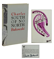 South of No North ~ CHARLES BUKOWSKI ~ Signed w Original Painting First Edition