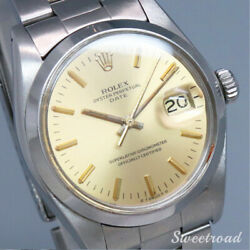 Rolex Oyster Perpetual Date Ref.1500 Cal.1570 Automatic Authentic Men Watch Work