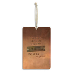 She Held Her Head High Copper Tone 4 x 6 Hammered Metal Pinboard Sign Plaque