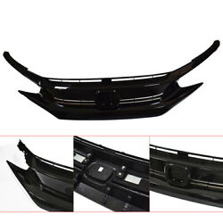 Black Front Hood Grill Grille Eyelid for 2016-2018 Honda Civic Coupe Sedan $68.99