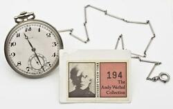 Ex-Sotheby's Andy Warhol Collection 18ct White Gold Paul Ditisheim Pocket Watch