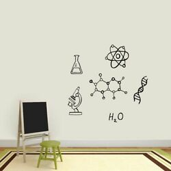 Chemistry Set Wall Decals Science Kids Classroom School Office Decals Stickers $65.00