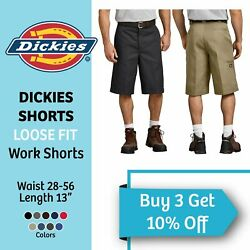 DICKIES SHORTS FLEX MENS WORK SHORTS 13 INCH RELAXED FIT MULTI TECH POCKET GR630