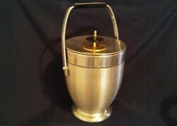 MidCentury Large Vintage Retro Ice Bucket Kromex Aluminum Chrome Atomic 16