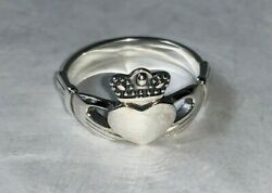 Solid Sterling Silver 925 Irish Claddagh Ring Heart Crown Hands Friendship Love