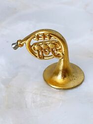 Miniature Gold Tone Tuba Instrument Reproduction Music Lover Desk Decor Gift $26.99