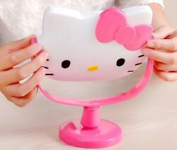 Cute For Hello Kitty Desk Table Pink Bow Women Make up Mirror Cosmetic Mirror $15.18