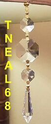 Special 6 REAL CRYSTAL Icicles Multi Faceted Magnetic Chandelier U drop AAA $19.80