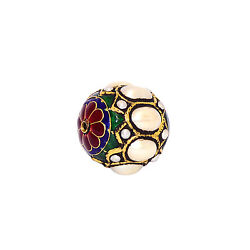 36.0ct Gemstone 22 kt Gold 925 Sterling Silver Bead Ball Spacer Finding Jewelry