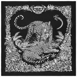 Hermes Shawl Scarf Stole Jungle Love Tattoo Robert Dallet Cashmere Silk New 56