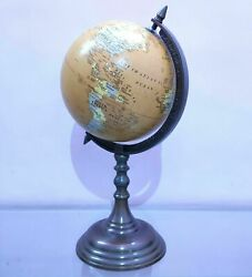 Antique Base World Globe Vintage Style Table Top Home Decorative Item Gift $58.00