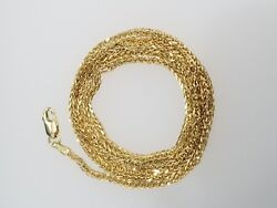 Real 10k Yellow Gold Wheat Franco Link Necklace Chain 1.5 mm 24 quot; inch Unisex $165.99