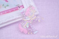 Carousel Pony Magical Dreamy Lolita Pastel Pretty Unicorn Harajuku Necklace