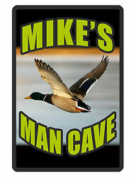 Personalized Man Cave Sign Printed with YOUR NAME.Custom Signs Duck design #186 $13.95