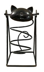 Iron Cat Wine Bottle Swing Holder by Kitchen Wine and Home $19.95