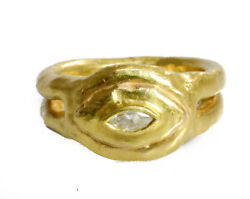 Jean Mahie 22Kt Yellow Gold and Diamond One of a Kind Ring