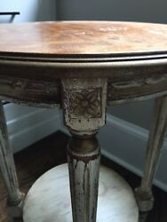 Domaine Antique White amp; Gold Small Bedroom Side Table $110.00