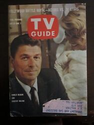 TV Guide May 1961 Ronald Reagan Dorothy Malone