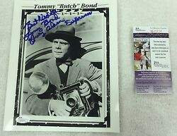 Tommy Bond Actor Signed and Inscribed 8x10 Photo JSA RARE Superman Hollywood