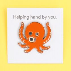 Genuine Google Android Octopus 'Helping Hand By You' Lapel Pin Badge