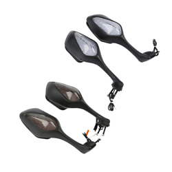 L&R LED Turn Signal Integrated Rearview Mirrors For Honda CBR1000RR 2008-2016 US