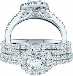 14K 1.26Ct Diamond Solitaire Bridal Band Ring White Gold Size 7 New Tag Wedding