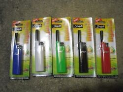 New Crocs Handy Lighter Electronic Ignition Pre-Adjusted Flame Long Reach Nozzle