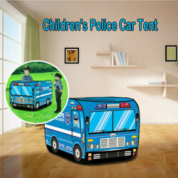 Play With A Police Car Design Tent Happy Time To Play House Children Play Tent