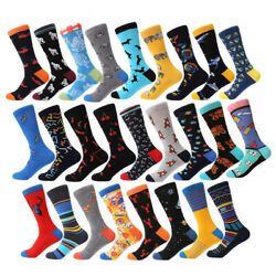 NEW Mens Cotton Socks Novelty Animals Cherry Dog Casual Long Socks Wedding Gifts $3.26