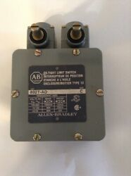 Allen Bradley Oil Tight Limit Switch 802T AD Series C $102.00