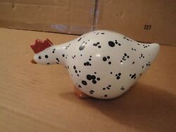 Adorable Ceramic Speckled Chicken Rooster Kitchen Decor Poultry Collectible VG $2.49