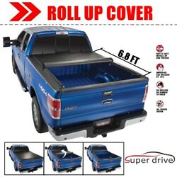 Soft Lock Roll Up Tonneau Bed Cover for 2008-2016 Ford F-250F-350 6.8 Ft Bed