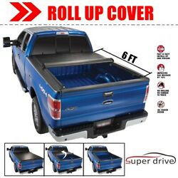 Lock Soft Roll Up Tonneau Bed Cover for 2016-2019 Toyota Tacoma 6 Ft  72