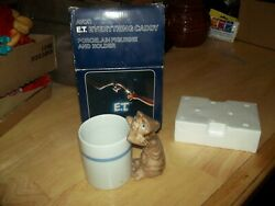 1983 AVON Ceramic E.T.  The Extra Terrestrial EVERYTHING Caddy Cup Never Used