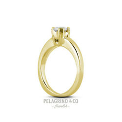 2.60ct F-SI1 Excellent Round Natural Diamond 14ky Gold Basket Solitaire Ring 4mm