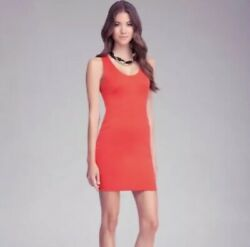 Bebe Red Racerback Fitted Bodycon Mini Dress Sexy Cocktail Women's Size Small S $39.99