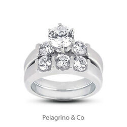 2.93 TCW G-I1 Excellent Round Natural Diamonds 14KW Gold Classic 3-Stone Set 5mm