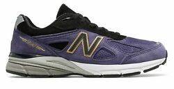 New Balance Men's 990V4 Made In Us Shoes Purple With Black