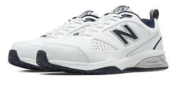 New Balance Men#x27;s 623v3 Shoes White with Navy $55.99