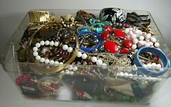ESTATE VINTAGE - NOW JEWELRY LOT NECKLACES EARRINGS  READY TO WEAR NO JUNK 9 pc