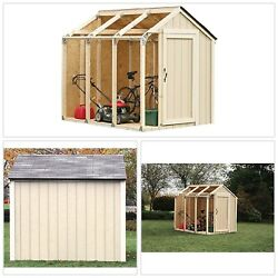 Custom Shed Kit Peak Roof 22 Gauge Galvanized Steel Brackets Design Plan